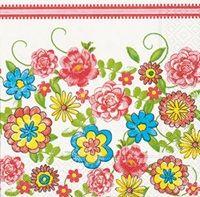 0529 Servilleta decorada flores