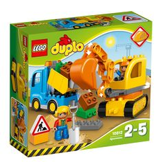LEGO DUPLO Town Truck/Tracked Excavator, Dump Truck and Excavator Kids Construction Toy with Construction Figures, 26 pieces