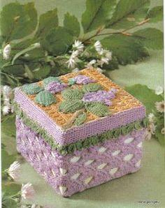 Beautiful crochet box with diagram