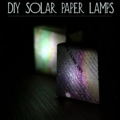 Solar powered DIY paper lamps: full tutorial to make your own! #craftgawker