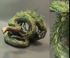 found this on etsy. very talented artist! earth constrictor original handmade OOAK clay by creaturesfromel, $825.00