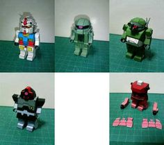 Lego Gundam 5in1 Pack Free Papercrafts Download - http://www.papercraftsquare.com/lego-gundam-5in1-pack-free-papercrafts-download.html#ATM09STScopedog, #Gundam, #Lego, #MS09Dom, #MS14Gelgoog, #RX78, #Zaku