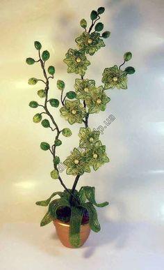 1252-орхидея из бисера