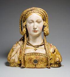 Relicário de Santa Balbina, 1520-1530 Anônimo, provavelmente de Bruxelas, Bélgica madeira, tinta e folha de ouro; 44 x 40 x 15 cm Metropolitan Museum, Nova York