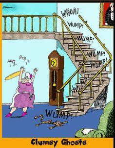 My favorite FAR SIDE cartoon. -   #GARY LARSON #FAR SIDE #CLUMSY GHOSTS.