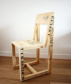 Shipping crate furniture by Boudewijn van den Bosch - shipping crates Wooden Crate Furniture, Wood Crates, Recycled Wood, Repurposed Furniture, Wood Pallets, Recycled Materials, Furniture Making, Diy Furniture, Furniture Design