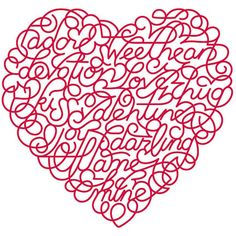Heart - doodle. . .but can you see the words