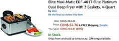 Amazon Canada Deals: Save 80% on Elite Platinum Dual Deep Fryer with 3 Baskets & 36% on  Skip Hop Moonlight & Me... https://www.lavahotdeals.com/ca/cheap/amazon-canada-deals-save-80-elite-platinum-dual/242029?utm_source=pinterest&utm_medium=rss&utm_campaign=at_lavahotdeals&utm_term=hottest_12