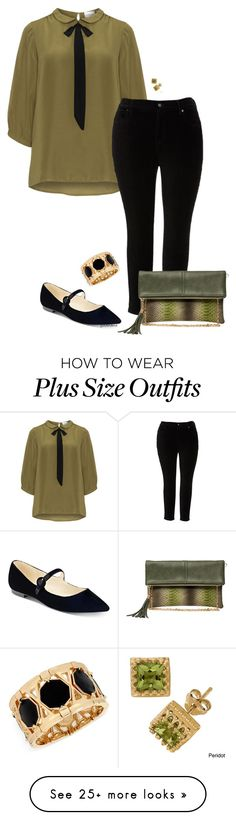 """""""Saying """"pussybow"""" makes me laugh- plus size"""" by gchamama on Polyvore featuring JunaRose, Melissa McCarthy Seven7, Marc Fisher, Bungalow 20, Gioelli, INC International Concepts and plus size clothing"""