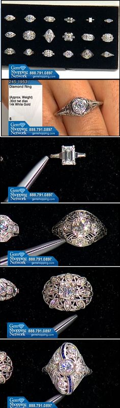 For those of us who love estate jewelry - these estate diamond rings have history and beautiful old world craftsmanship behind them.