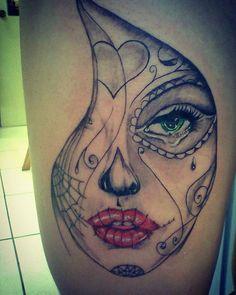 #tattoo #tatuagem #catrina #catrinatattoo #inked #inkedtattoo #instaink…
