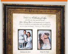 Personalized Wedding Photo Frame for parents