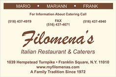 Cheap Banners, Franklin Square, Outdoor Banners, Family Traditions, Catering, Restaurant, Catering Business, Gastronomia, Diner Restaurant