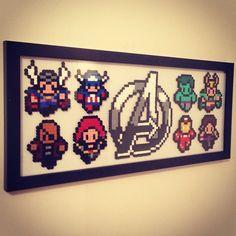 Avengers Perler Bead Artwork