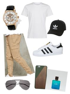 """""""Festa em casa (ryan)"""" by dudaareal ❤ liked on Polyvore featuring 21 Men, Charles Hubert, Yves Saint Laurent, adidas Originals, Native Union, American Eagle Outfitters, adidas, men's fashion and menswear"""
