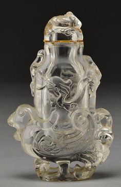 A carved rock crystal covered vase, China, circa 18th/19th century.
