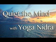 Yoga Nidra brings an incredible calmness, quietness and clarity. Yoga Nidra is one of the deepest of all meditations, leading awareness through many levels of mental process to a state of supreme stillness and insight. Guided Meditation, Yoga Nidra Meditation, Meditation Scripts, Guided Relaxation, Walking Meditation, Easy Meditation, Meditation Music, Mindfulness Meditation, Meditation Youtube
