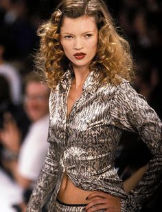 Kate Moss at Todd Oldham Spring/Summer 1995 Kate Moss (Runway/Catwalk & Backstage)