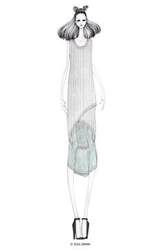 Fashion illustration - fashion design sketch, chic fashion drawing // Issa Grimm