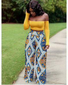 Your place to buy and sell all things handmade - African wide leg trouser African womens pant Ankara wide leg African Fashion Ankara, Ghanaian Fashion, African Inspired Fashion, Latest African Fashion Dresses, African Dresses For Women, African Print Fashion, African Attire, African Wear, African Women Fashion