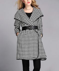 Look at this Black & White Houndstooth Jacket - Women & Plus on #zulily today!