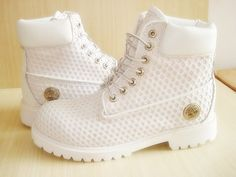 White timberlands -@kaylencopper