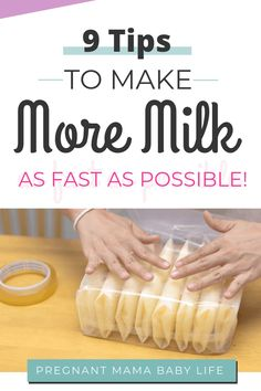 How to increase a low milk supply and make more milk now!