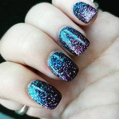 Nails!!!  #nails #nailsdid #blue #purple #sparkle #glitter #ancnails #anc #ombre