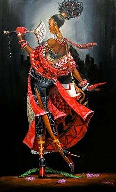 Frank Morrison - Painting the Town Red with Elegance : Black art prints & African American Art & Gifts African American Art, African Art, Frank Morrison Art, Art Africain, Black Artwork, Wow Art, My Black Is Beautiful, Black Women Art, Art Graphique
