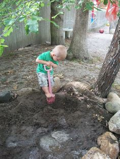 do you have a digging pit in your yard?