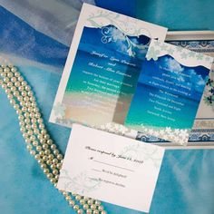 Seal and Send Beach Wedding Invitations to Set the Tone for Your Beach Theme Weddings $.94 ea|