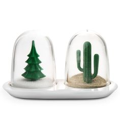 Salzstreuer und Pfefferstreuer Set, Winter Summer - Qualy Design #salt #pepper #shakers