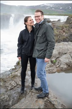 Reines Princesses - Yesterday, Princess Victoria and Prince Daniel spent their second and last day in Iceland. The couple also celebrated its fourth anniversary.