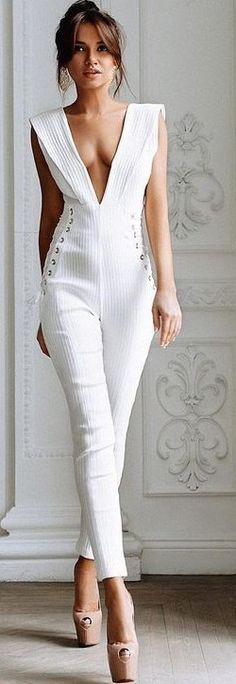 White Jumpsuit                                                                             Source