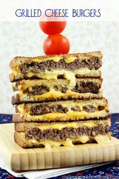 Award Winning Grilled Cheese Burgers