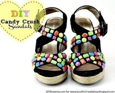 Candy Crush Sandal Diy  •  Free tutorial with pictures on how to make a sandal / flip flop in under 60 minutes