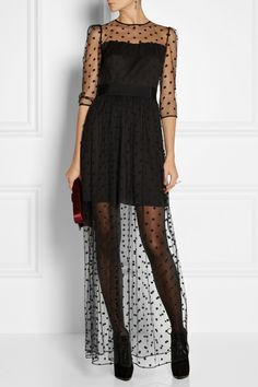 ALICE by Temperley | Celia polka-dot tulle maxi dress