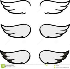 21 Super Ideas for bird wings simple Cartoon Angel Wings, Angel Wings Drawing, Halo Tattoo, Tattoo Outline, Angel Outline, Bird Tattoo Wrist, Wing Tattoo Designs, Wings Design, Bird Wings