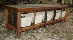 Custom Rustic Reclaimed Entry Bench for Renae in OH - 50% by EchoPeakDesign on Etsy https://www.etsy.com/listing/231813583/custom-rustic-reclaimed-entry-bench-for