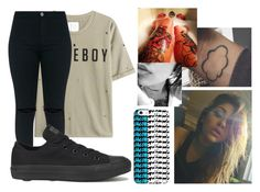 """"""":))"""" by sartorius-trash ❤ liked on Polyvore featuring Zoe Karssen, Converse and CO"""