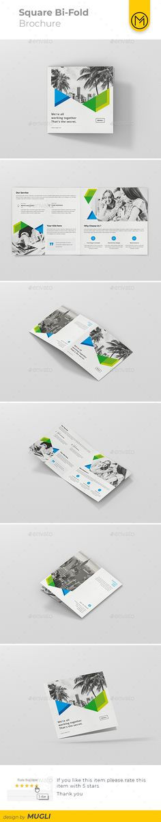 Electronic Repair Shop Bifold / Halffold Brochure Template PSD - half fold brochure template