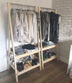 Try This 10 Open Closet Ideas for you HomeMakeover Wardrobe Closet, Closet Bedroom, Wardrobe Doors, Diy Bedroom, Design Bedroom, Budget Bedroom, Master Closet, Trendy Bedroom, Closet Doors