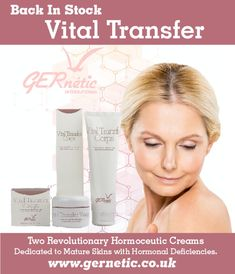 Our very popular Vital Transfer Creams are now back in stock. These two creams have been specially designed for very mature skin, with advanced signs of hormonal deficiency – extreme dryness, lack of elasticity, loss of density. Menopause, Revolutionaries, Dry Skin, Anti Aging, Face Products, Skin Care, Blog, Popular, Signs