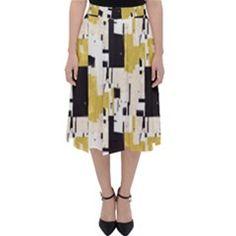 Tribal Geo Saffron Midi Skirt Unique Colors, Geo, Creative Design, Midi Skirt, Dress Up, Turtle Neck, Chic, Skirts, Fabric