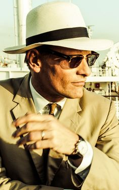 """Viggo Mortensen in a classic Panama for the thriller """"The Two Faces of January"""""""