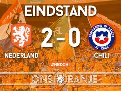 WK 2014 Maandag 23 juni Nederland - Chili 2-0