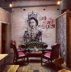 Client: God save the bean Coffee shop – – Graffiti World Graffiti Designs, Graffiti Styles, Deco Restaurant, Restaurant Design, Graffiti Restaurant, Coffee Shop Design, Cafe Design, Graffiti Cafe, Casa Pop