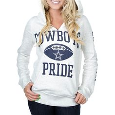 Dallas Cowboys PINK Raw Neck Hoodie | Dallas Cowboys Clothing | Dallas Cowboys Store - Dallas Cowboys Pro Shop