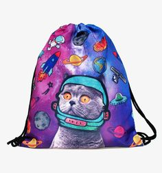 Space Cats 3D Print Mini Backpack //Price: $9.00 & FREE Shipping //     #hashtag2