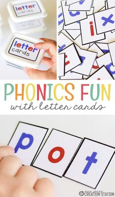 Phonics with Letter Cards – Mrs. Jones Creation Station Phonics with Letter Cards – Mrs. Jones Creation Station,Free Education Printables Phonics is a vital part of elementary classrooms. It is the beginning step to. Learning Phonics, Phonics Lessons, Phonics Activities, Reading Activities, Teaching Reading, Phonics Reading, Free Phonics Games, Preschool Phonics, Alphabet Phonics